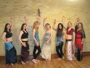 Triumphant dancers after the recital